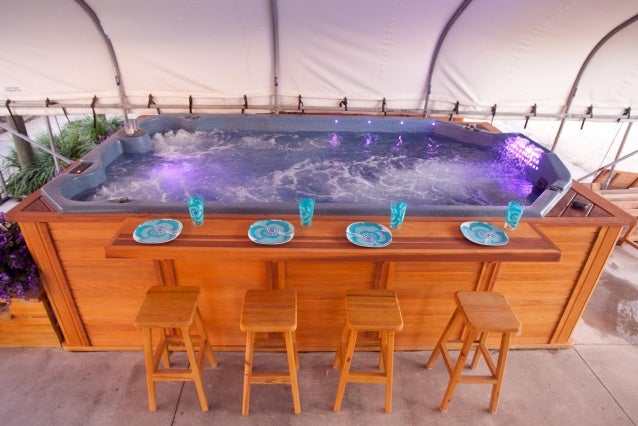 Swim Spa With Bar And 4 Stools Package