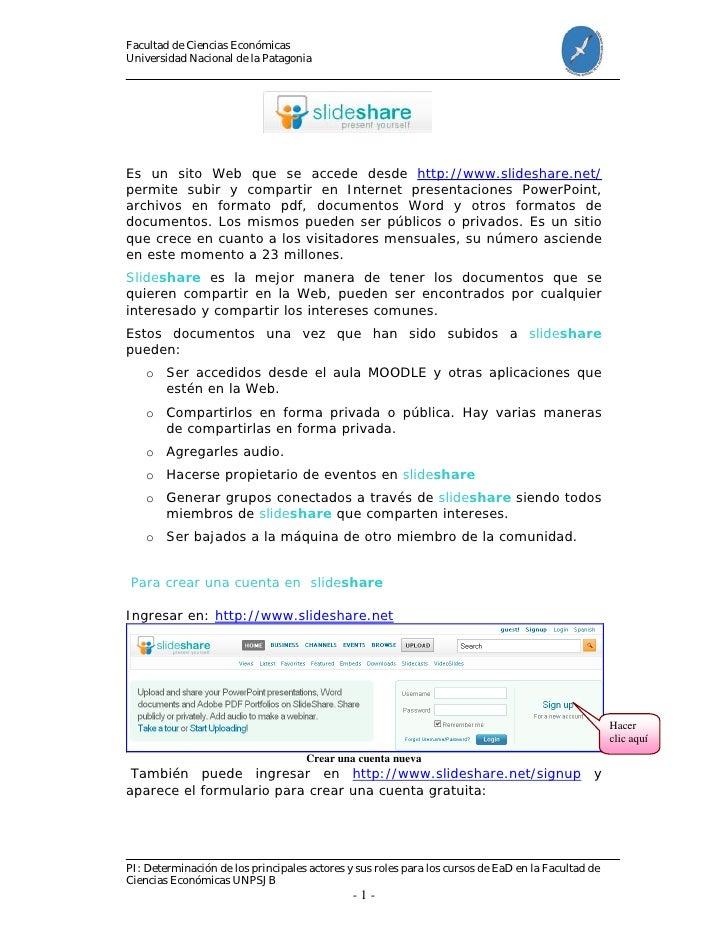 Facultad de Ciencias Económicas Universidad Nacional de la Patagonia     Es un sito Web que se accede desde http://www.sli...