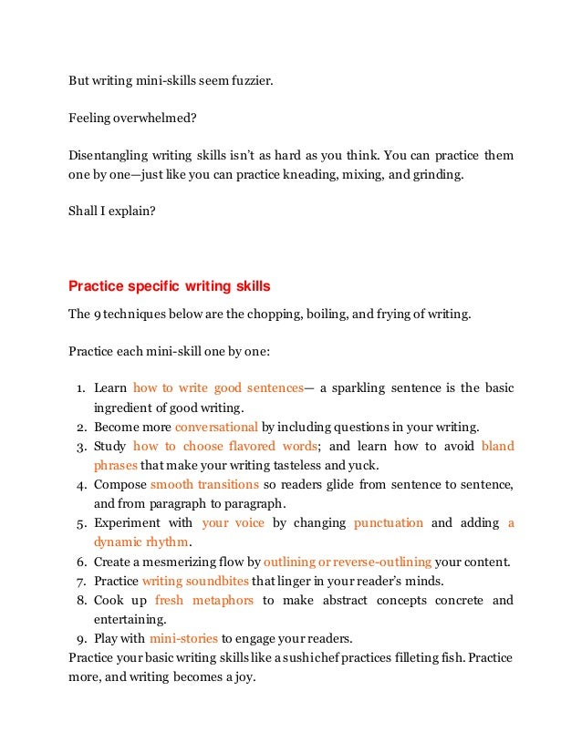 How to improve our writing