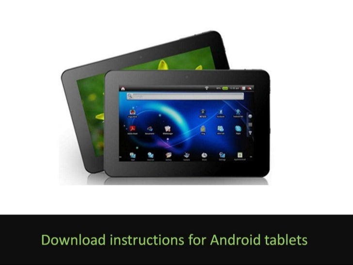 eBook Download Instructions for Android Tablets