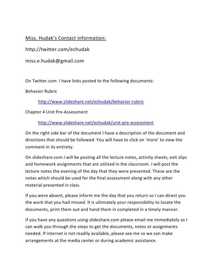 Miss. Hudak's Contact information:<br />http://twitter.com/echudak<br />miss.e.hudak@gmail.com<br />On Twitter.com  I have...