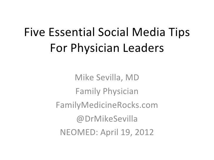 Social Media Tips For Physicians In Training
