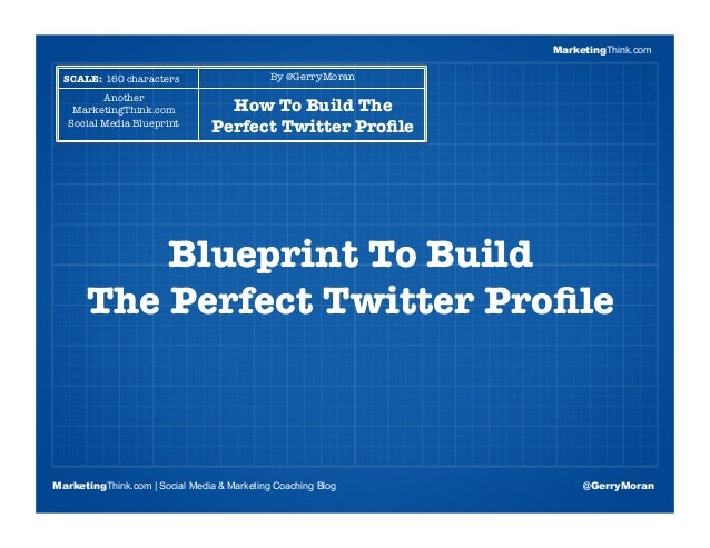 MarketingThinkBlogging Session #1Topics | Keywords | Editorial CalendarBlueprint To Build !The Perfect Twitter ProfileMarke...