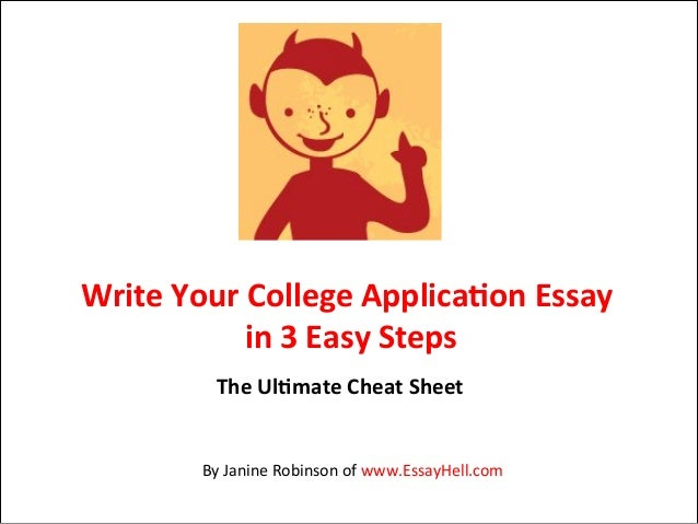 Steps in writing a college application essay