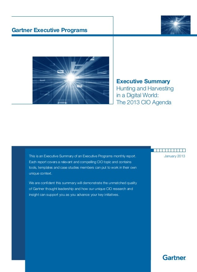 Gartner Executive Programs                                                                Executive Summary               ...
