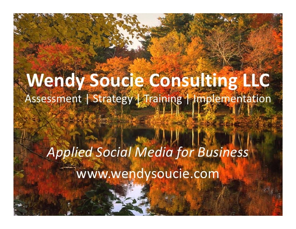 Wendy Soucie Slideshare Social Media Consultant Brief