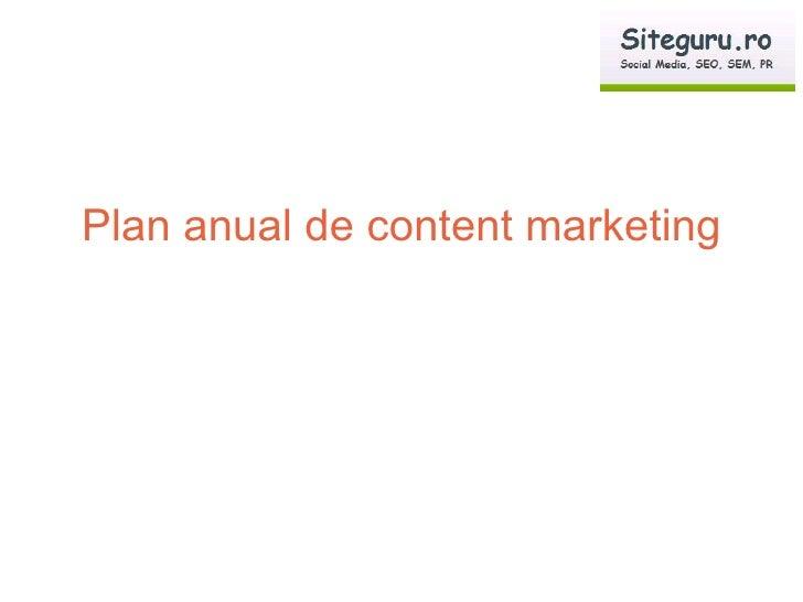 Plan anual de content marketing