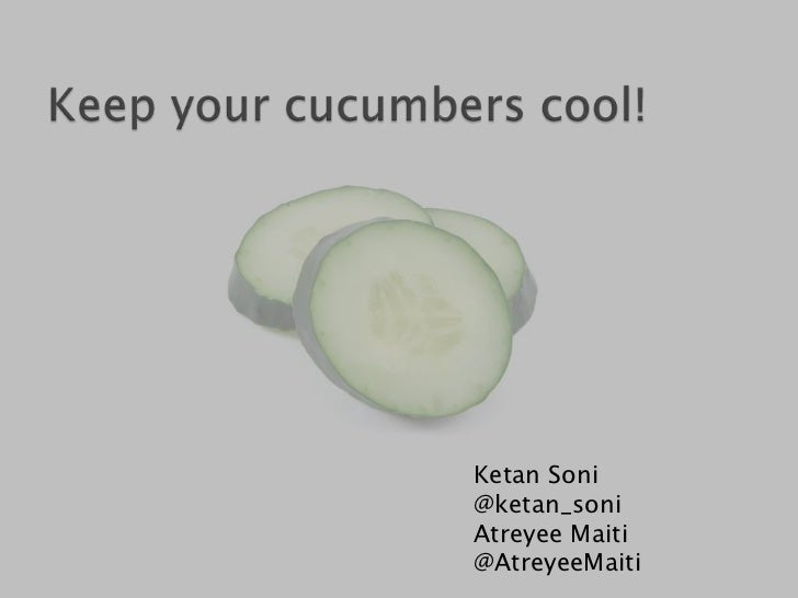 Keeping your cucumber suite maintainable
