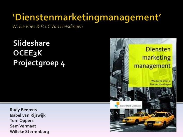 Slideshare dienstenmarketingmanagement