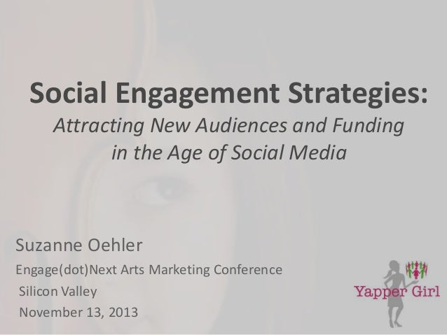 Social Engagement Strategies: Attracting New Audiences and Funding in the Age of Social Media  Suzanne Oehler Engage(dot)N...