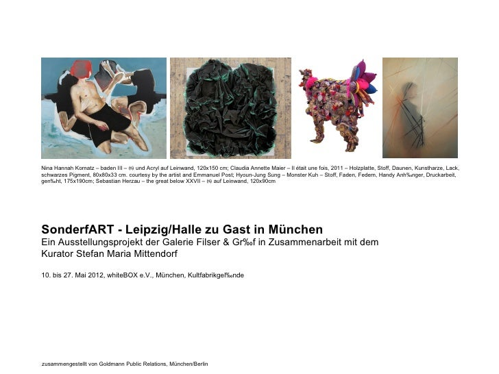 Nina Hannah Kornatz – baden III – ⒂ und Acryl auf Leinwand, 120x150 cm; Claudia Annette Maier – Il était une fois, 2011 – ...