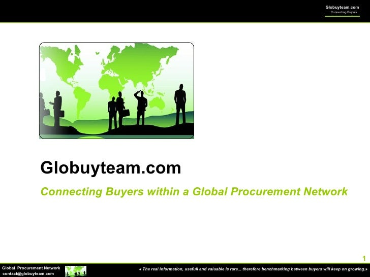 Globuyteam.com Connecting Buyers within a Global Procurement Network