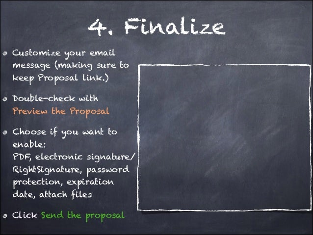 Making business proposal