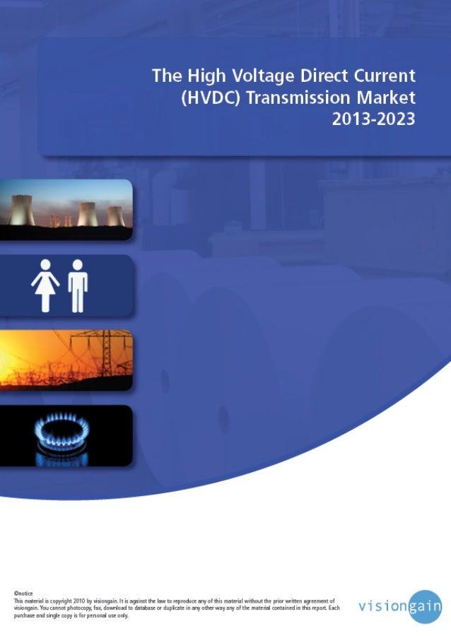 The High Voltage Direct Current (HVDC) Transmission Market 2013-2023