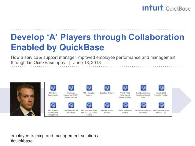 delightDevelop 'A' Players through CollaborationEnabled by QuickBaseHow a service & support manager improved employee perf...