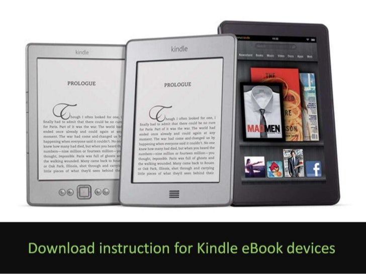 eBook download instructions for Kindle devices
