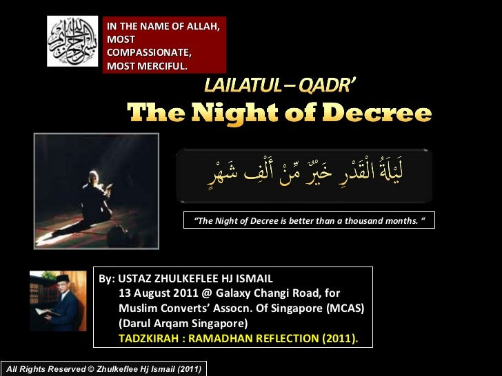 [Slideshare]]lailatul qadr darul-ramadhanreflection(2011)
