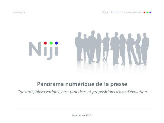Panorama numérique de la presseConstats, observations, best practices et propositions d'axe d'évolution                   ...