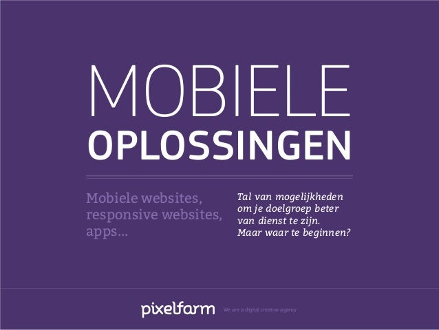 Mobiele oplossingen