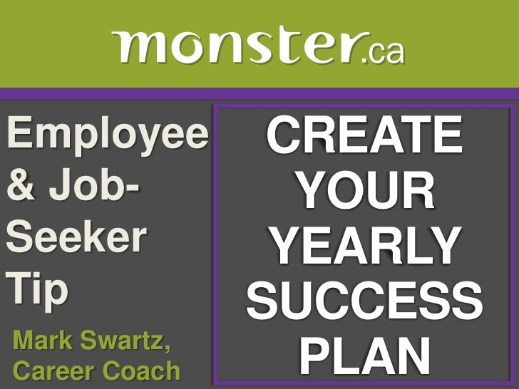 Create Your <br />Success Plan <br />For 2011<br />Mark Swartz, Monster.ca Career Coach<br />