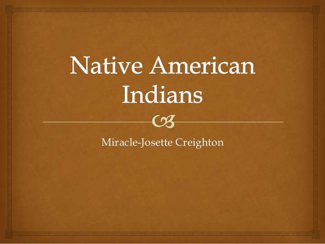Native American Indians by MJAC