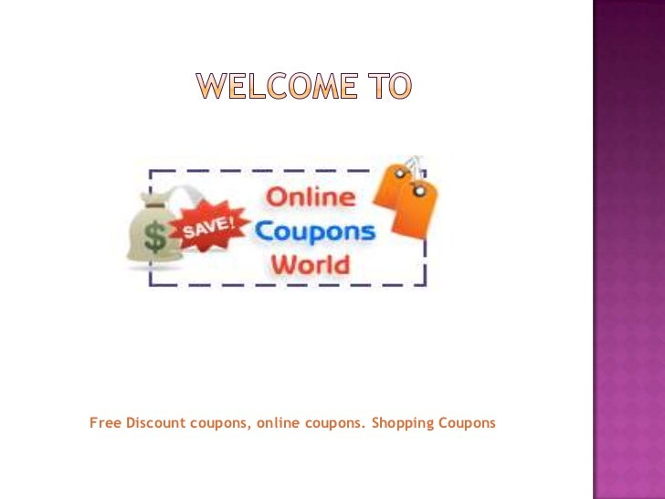 Free Discount coupons, online coupons. Shopping Coupons