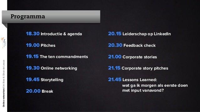 Online communiceren met je netwerk - The NetworKing Academy - Erik Boer (ACE)  & Oliver de Leeuw (Nameshapers) (21-11-2012)