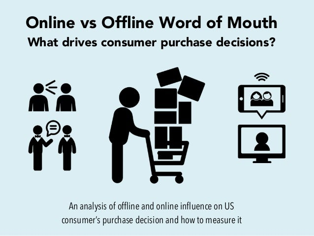 Online vs Offline Word of Mouth What drives consumer purchase decisions? An analysis of offline and online influence on US co...