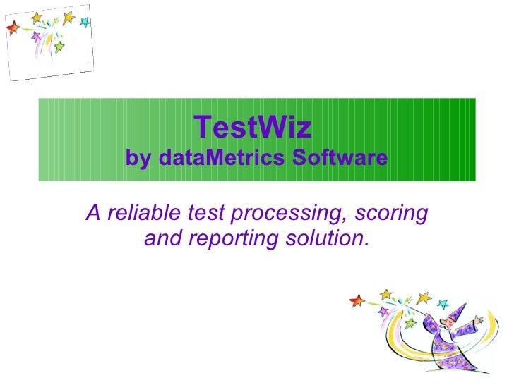 TestWiz Overview