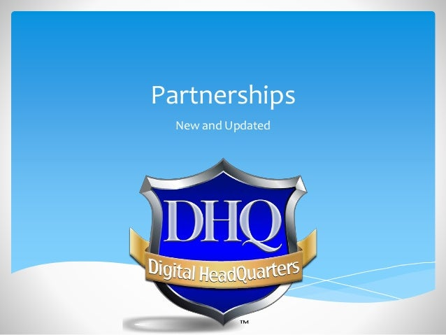 Partnerships New and Updated