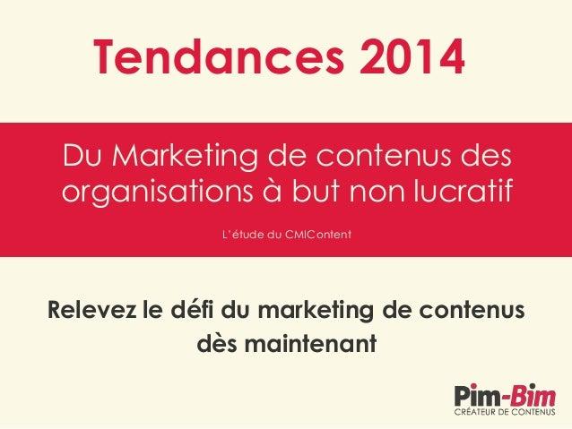 Tendances 2014 du Marketing de contenus des organisations à but non lucratif