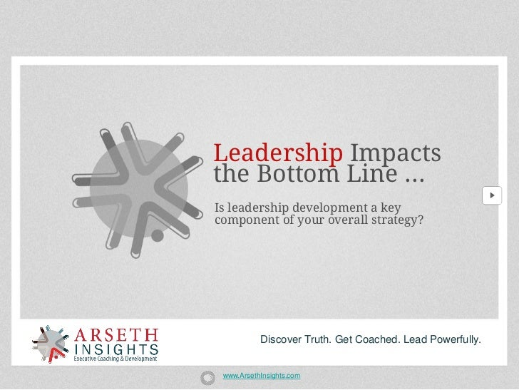 Leadership Impactsthe Bottom Line ...Is leadership development a keycomponent of your overall strategy?           Discover...