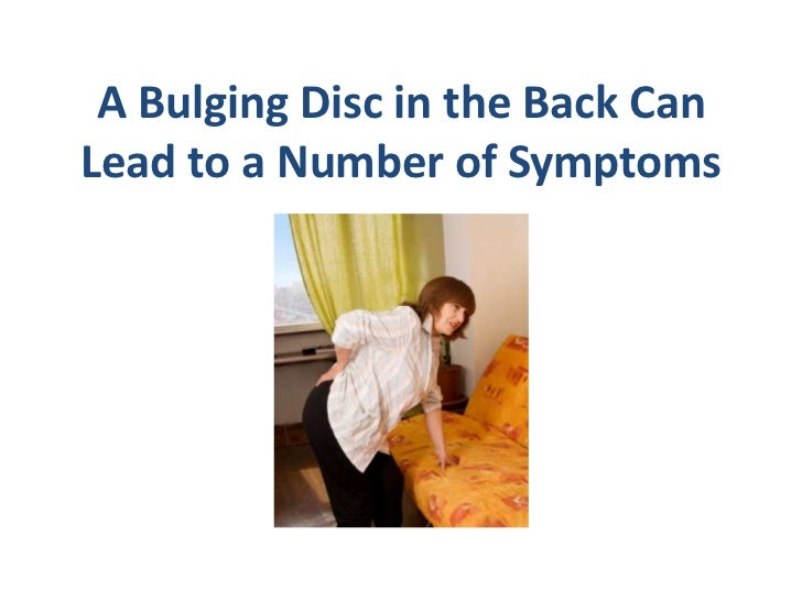 how to stand with bulging disc in lower back