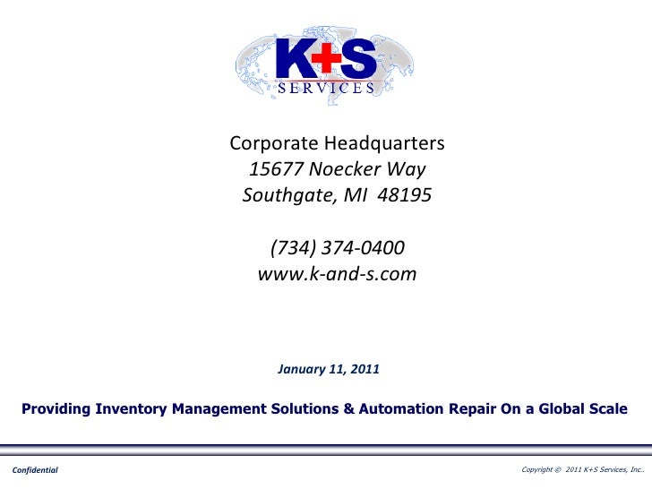 K+S Services, Inc. - Corporate Overview