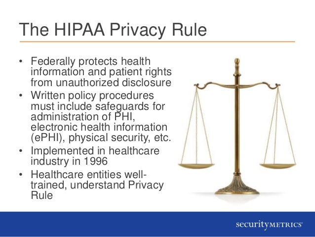 The hipaa security rule yes it s your problem