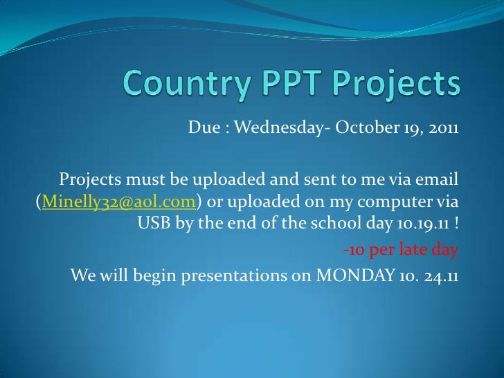 slideshare ppt for country project