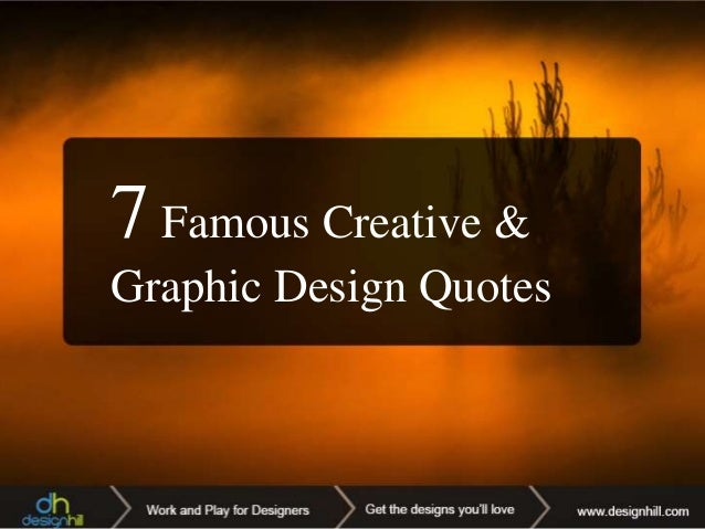 Famous Creative and Graphic Design Quotes