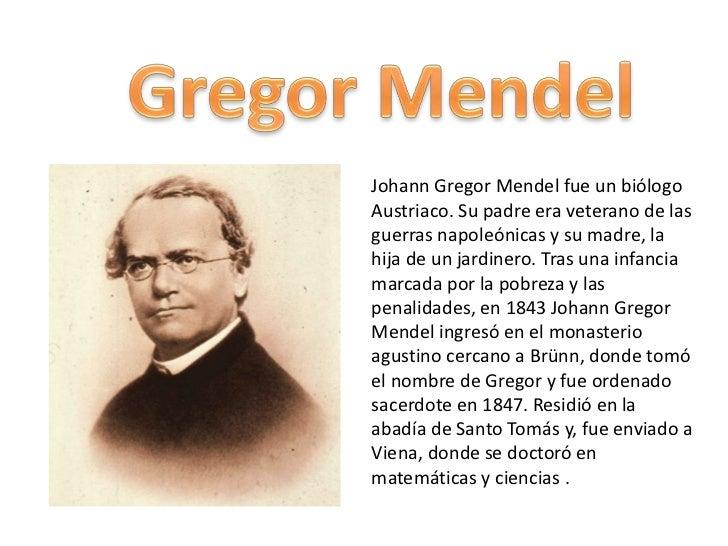 gregorio mendel: