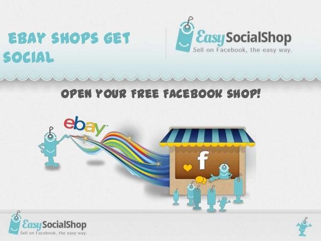 eBay shops getsocial      Open your Free Facebook shop!