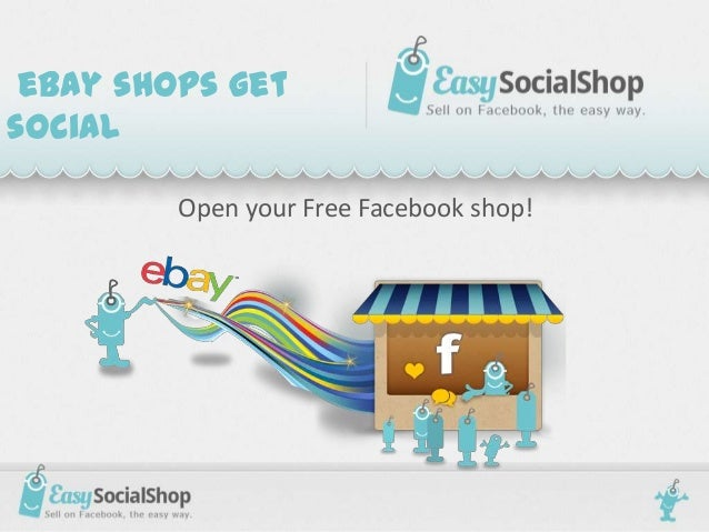 Open your eBay Facebook shop for free!