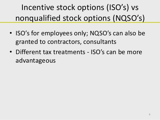 Equity incentive stock options