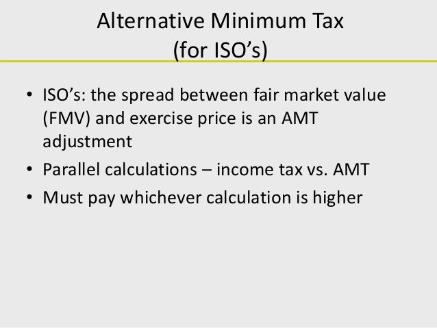 Tax treatment of stock options exercised
