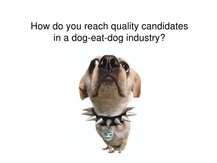 How do you reach quality candidates in a dog-eat-dog industry?<br />