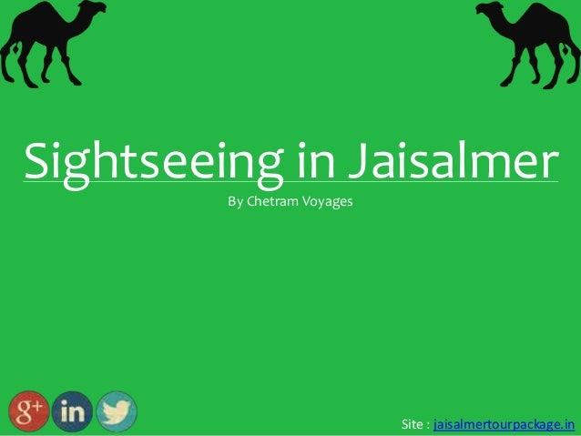 Jaisalmer : Sightseeing in Jaisalmer by Chetram Voyages