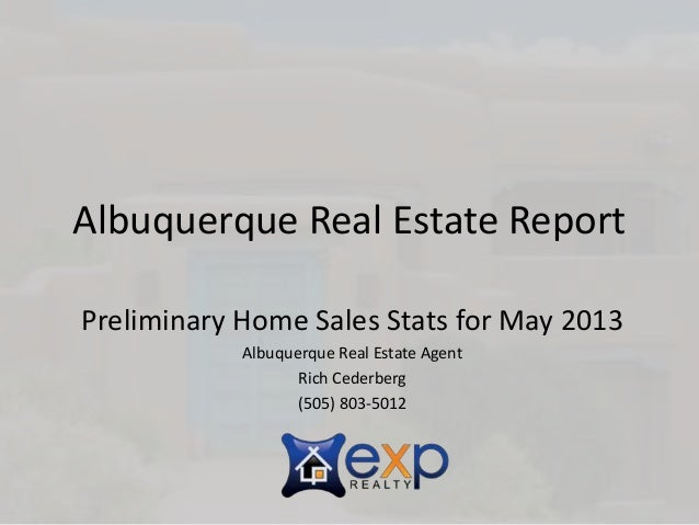 Slideshare real estate report may 2013