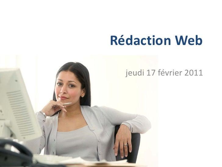 Rédaction Web  jeudi 17 février 2011