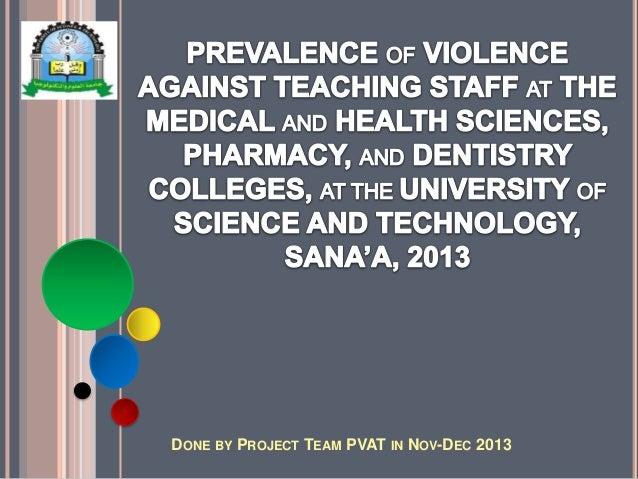 Graduation Research Project about Violence against Teachers