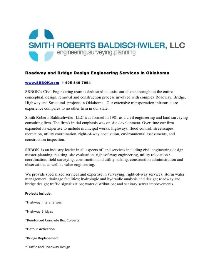 Roadway and Bridge Design Engineering Services in Oklahoma