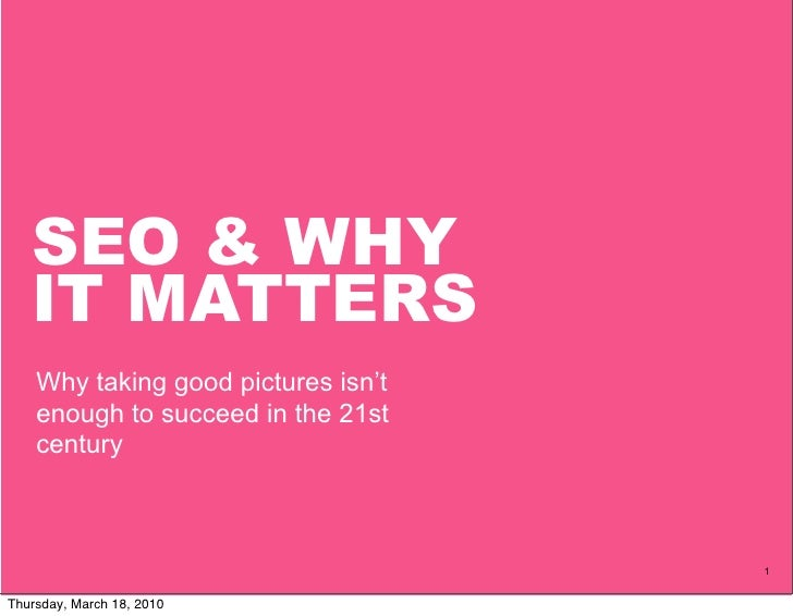 SEO & Why It Matters