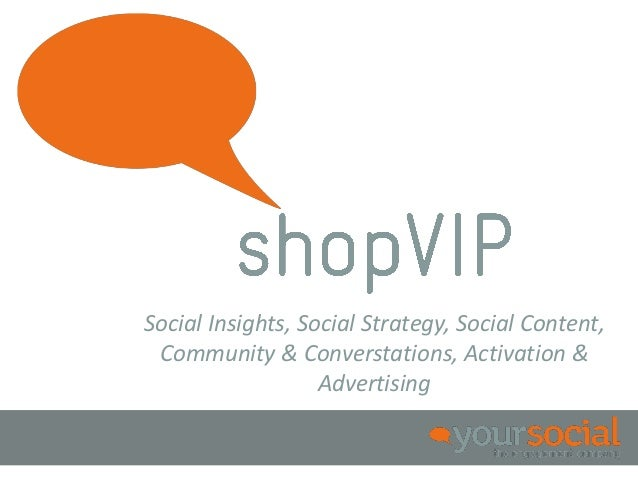 Social Insights, Social Strategy, Social Content, Community & Converstations, Activation &                   Advertising